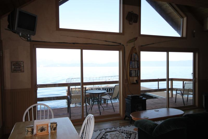 Deck and Lake view from inside