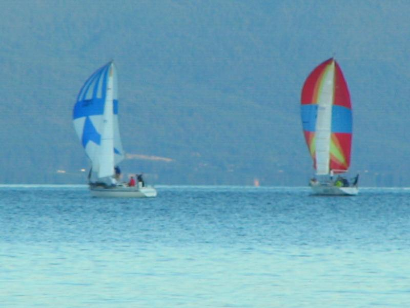 Sailboat races can be seen Tuesday and Friday evenings
