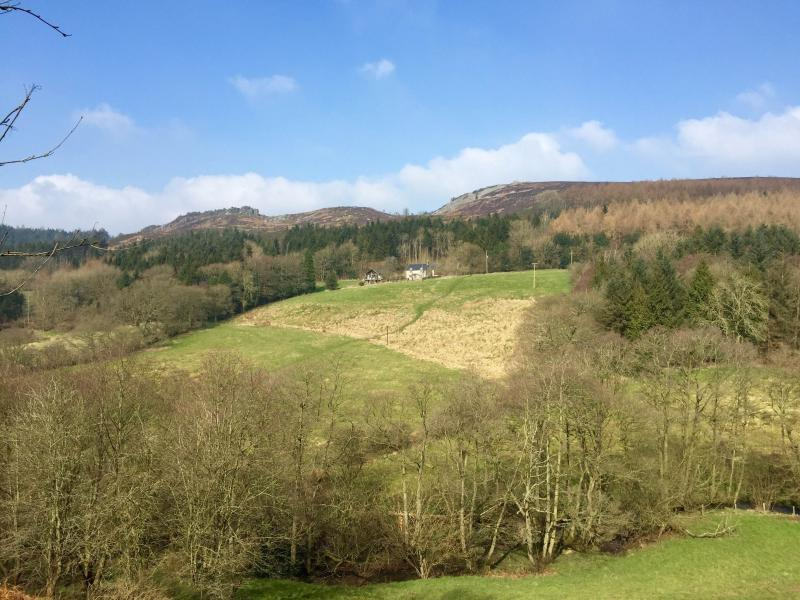 The stunning landscape of the Linley Valley for walks in the Shropshire Way, a designated AONB.