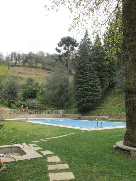Vista a partir da zona inferior da piscina
