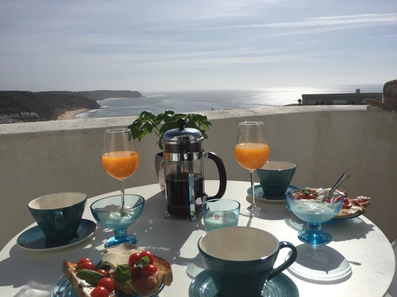 Breakfast on the balcony on the second floor/ master bedroom