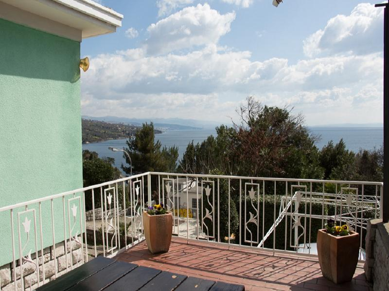 Sunny terrace overlooking Rijeka and islands