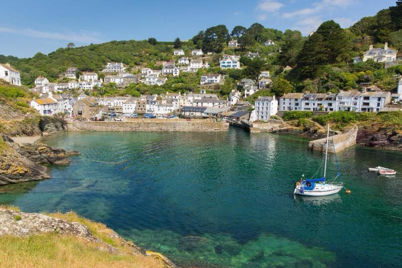View of  Polperro and harbour