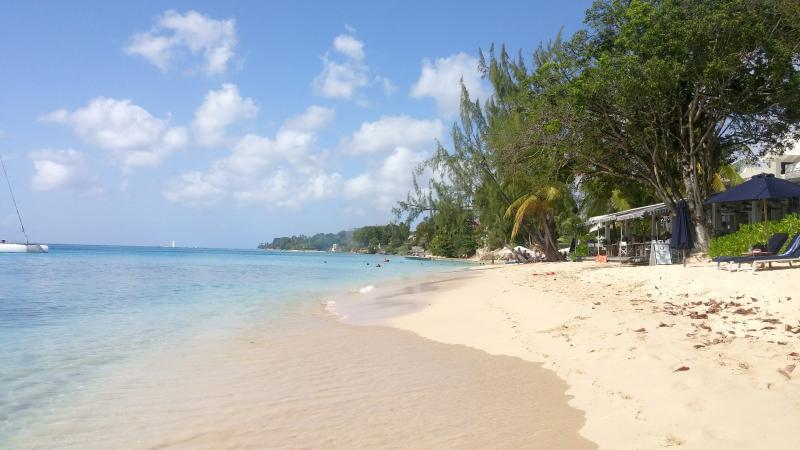 Alleynes beach is a 3 minute walk (230 meters) from the villa.