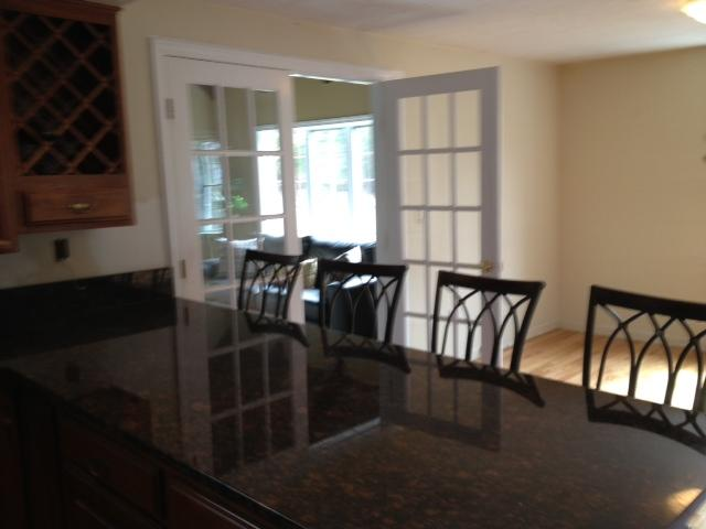 Kitchen Counter seating for 4- New Granite