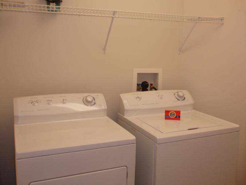 Full-sized washer & dryer in the unit