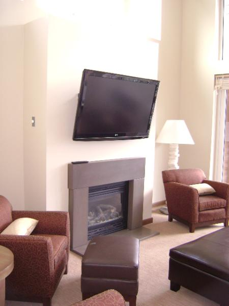 Gas fire plus big screen TV