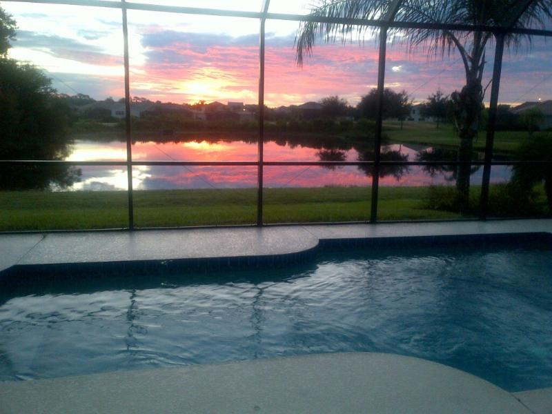 Wake up to this spectacular sunrise. Put on the coffee
