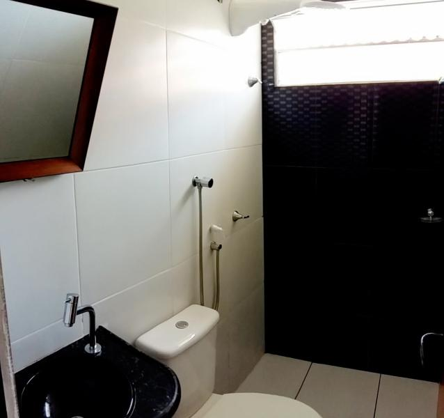 Banheiro - Casa de Veraneio (temporada) Parnaíba, Piauí, Brasil.