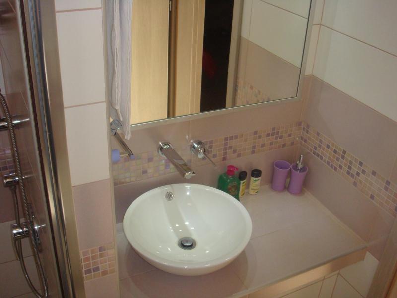 Handbasin in bathroom