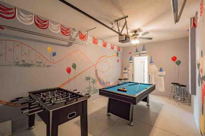 Charming & Fun Garage Game Room