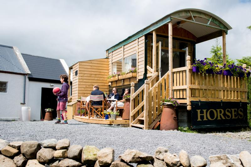 A quirky and cosy converted horse truck on a traditional farm in The Burren, Co Clare, Ireland