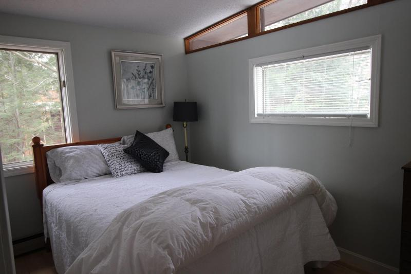 Upstairs bedroom with private bathroom access