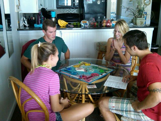 We love board games and puzzles and provide them for your convenience!