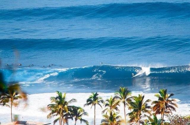 tres palmas surfing spot 1 min away, 1-3 min driving distance from 90% of Rincon surfing spots