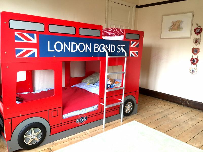 Children's bedroom - double decker bus bunk bed