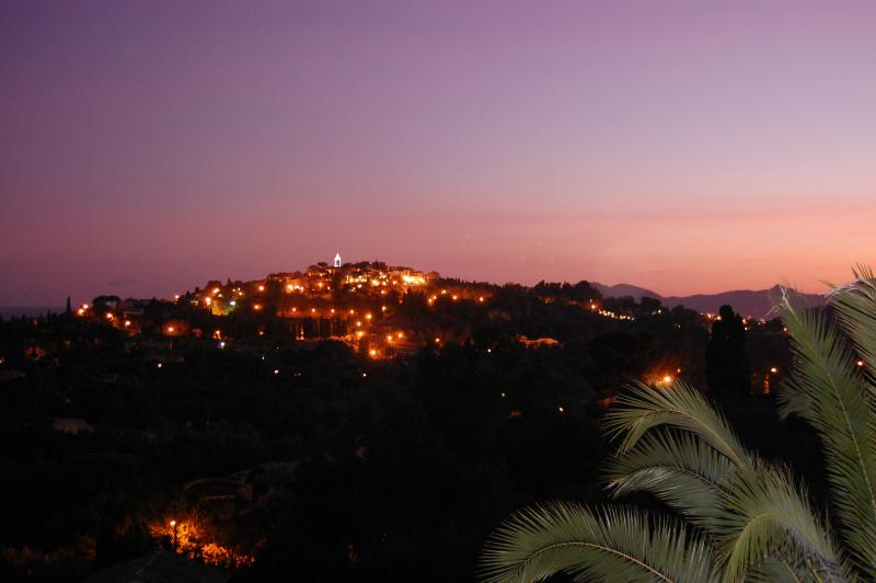 Our view of Mougins at night