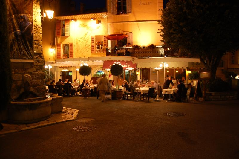 Dine in one of many superb restaurants in Mougins village