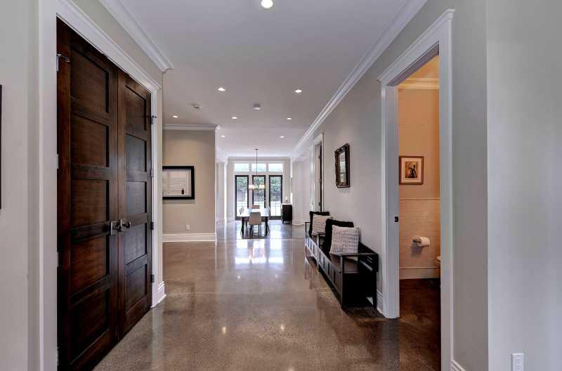 Entering the home through the large front foyer.
