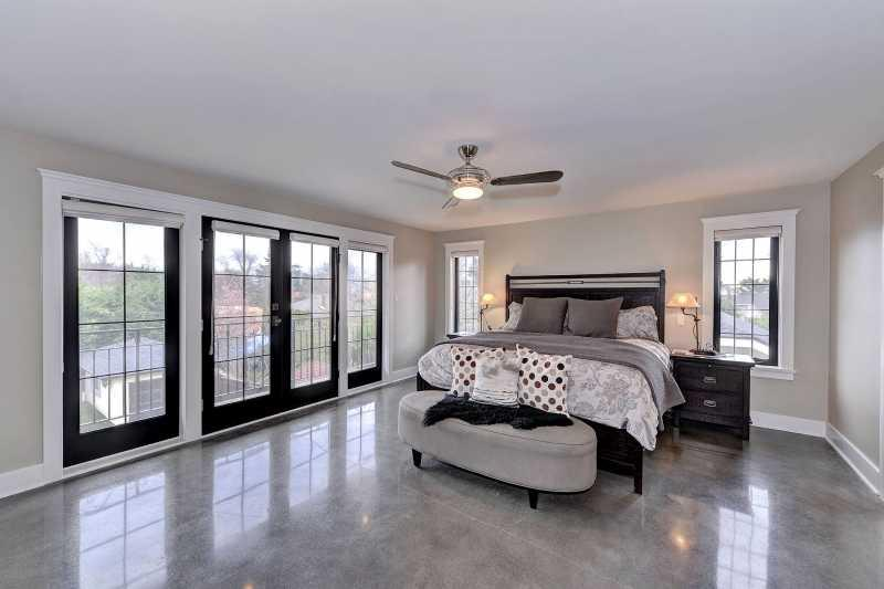 Very large master bedroom with King size bed.