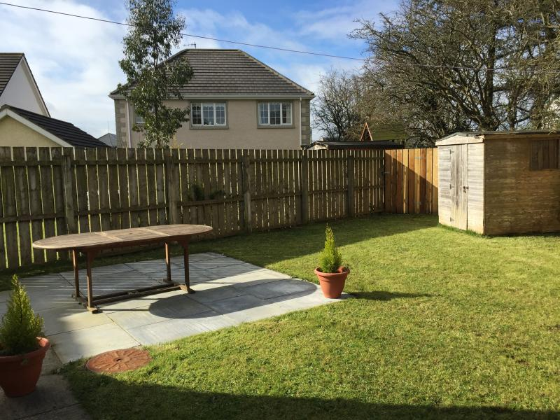 Fully enclosed back garden