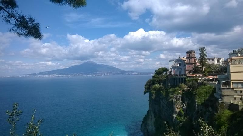 Vico Equense: panoramic view overlooking the Gulf of Naples
