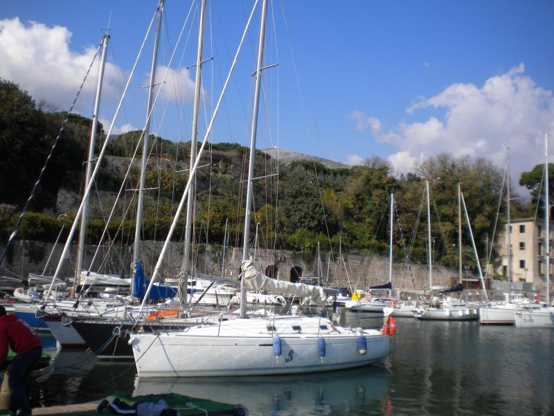 Sailships in the Caposele's harbour