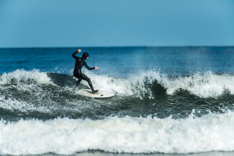 Surfing on the Moray Coast