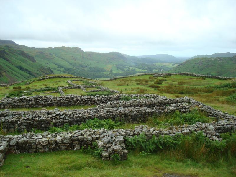 The Roman Fort on the dramatic Hardknott Pass is a short drive from the cottage.
