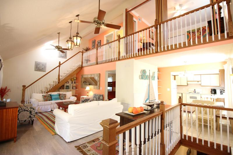 Great Room with Vaulted Ceilings - flows into balcony and kitchen