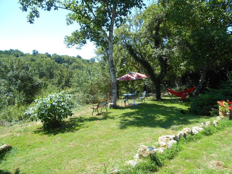 Lower terrace and hammock