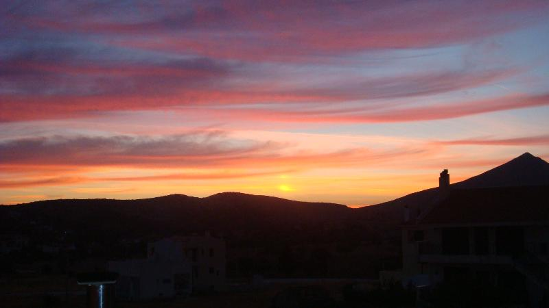Sunset from bedroom window on back