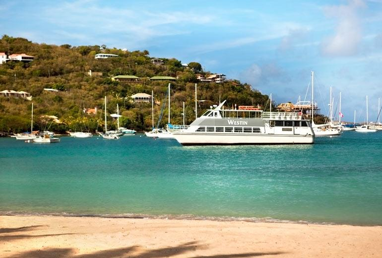 The Westin has it's own ferry to take you from St. Thomas to the Westin Resort