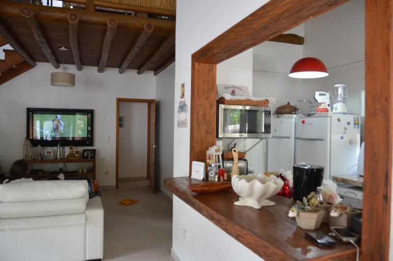 Integração das salas, cozinha e área externa