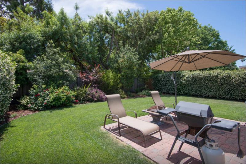 Private park-like backyard