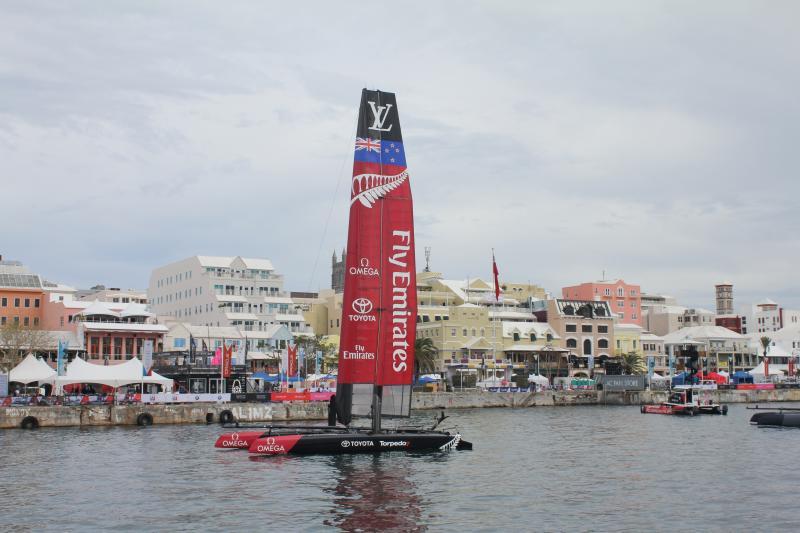 America's Cup, Bermudes, du 17 au 27 juin 2017. LV Challenge For AC du 26 mai au 27 juin. Équipe Nouvelle-Zélande.