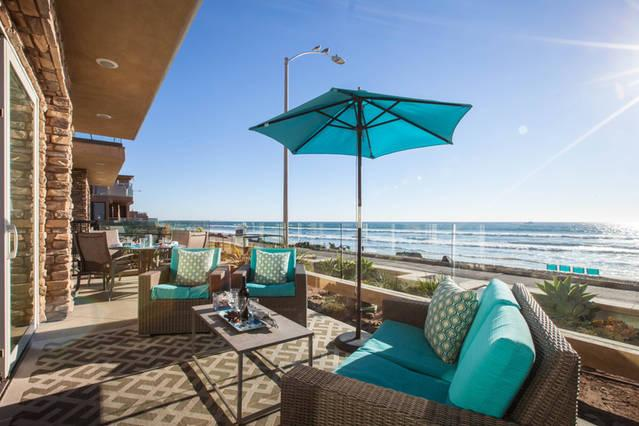 Large front patio to watch your kids or the dolphins play in the water.