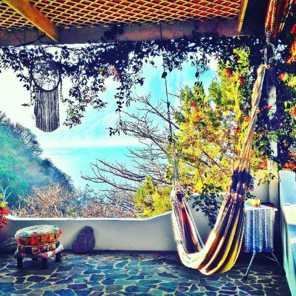 Bliss View Terrace overlooking San Pedro volcano can be your daily view.