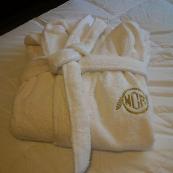All guests receive complementary robes for use during their stay!