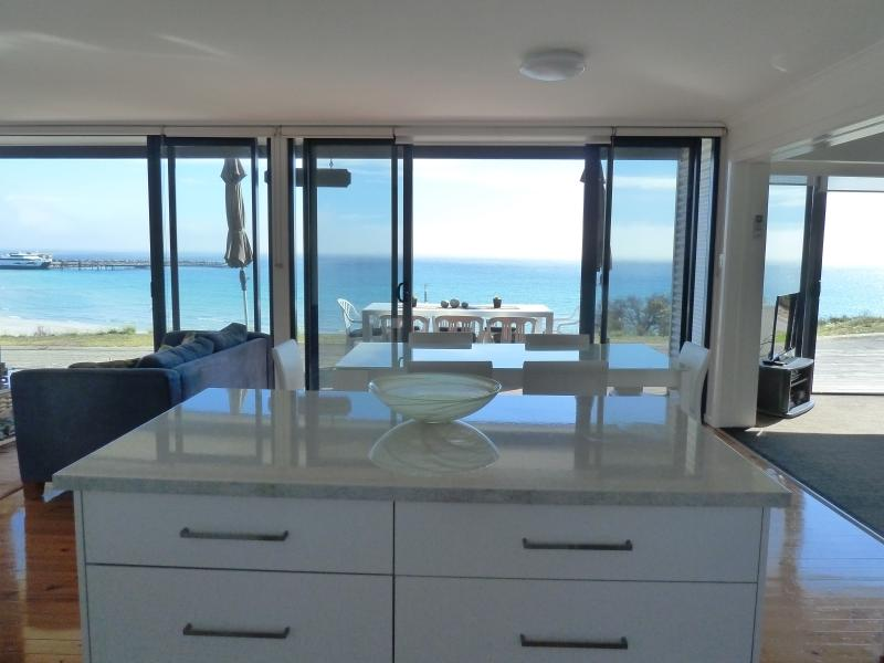 Sea views from kitchen