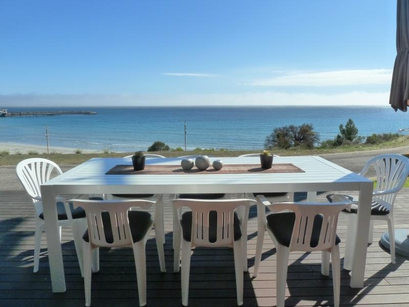 Alfresco dining over the sea!