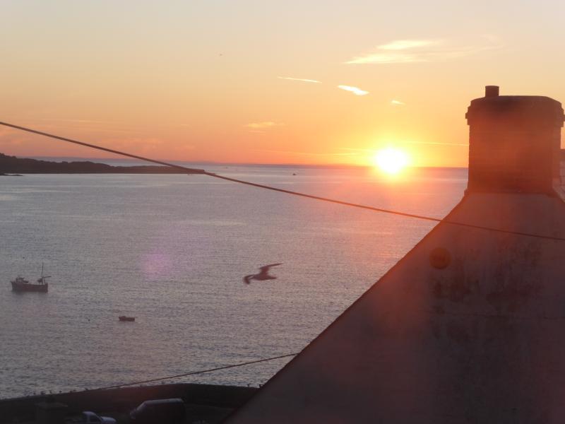 Sunrise in Coverack Bay.