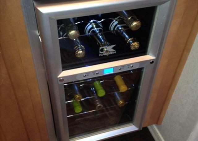 Wine chiller in kitchen