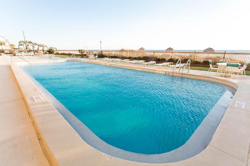 Lots of room in this big blue pool.