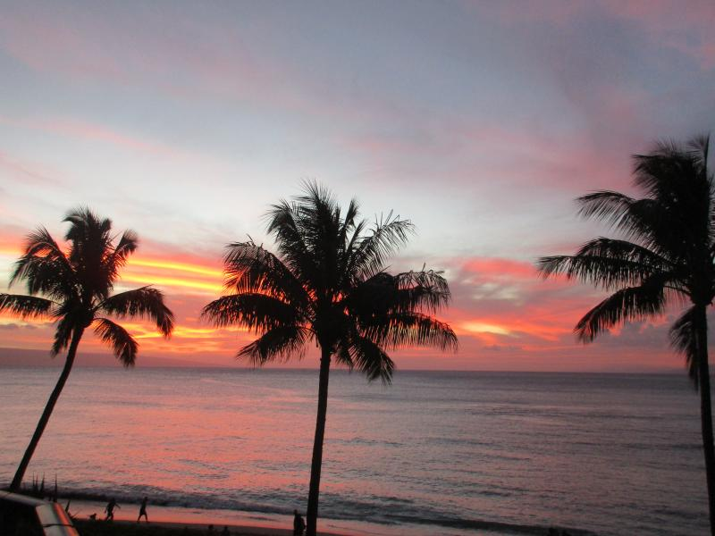 Gorgeous sunset view from your lanai