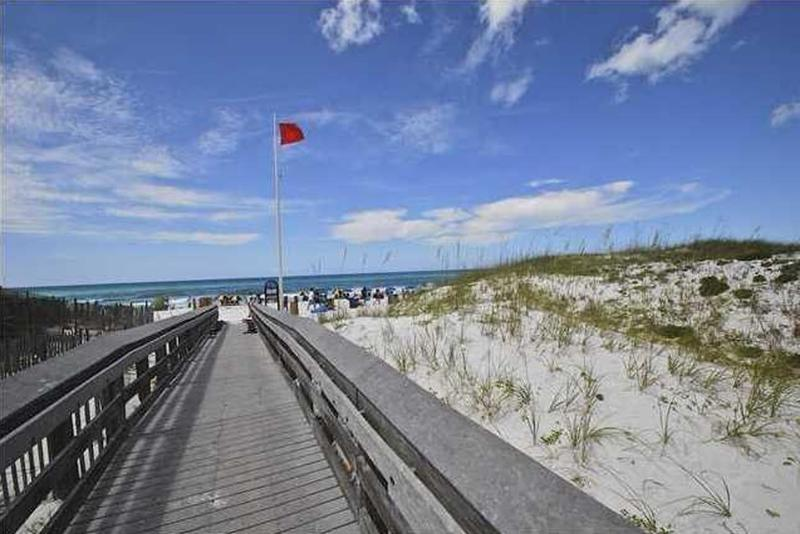 South of 30A, just steps from the beautiful sugar white sand beaches and emerald water!