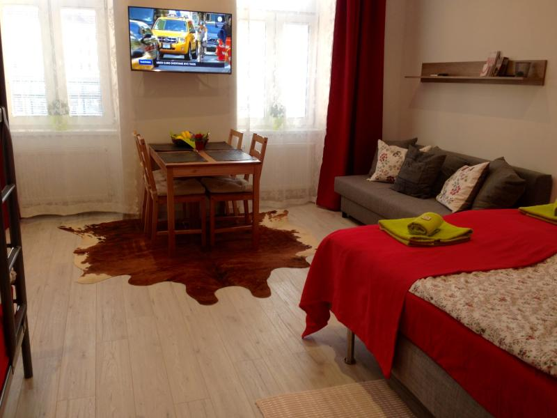 Bright and friendly apartment of 30m2 sleeping up to 6 persons.