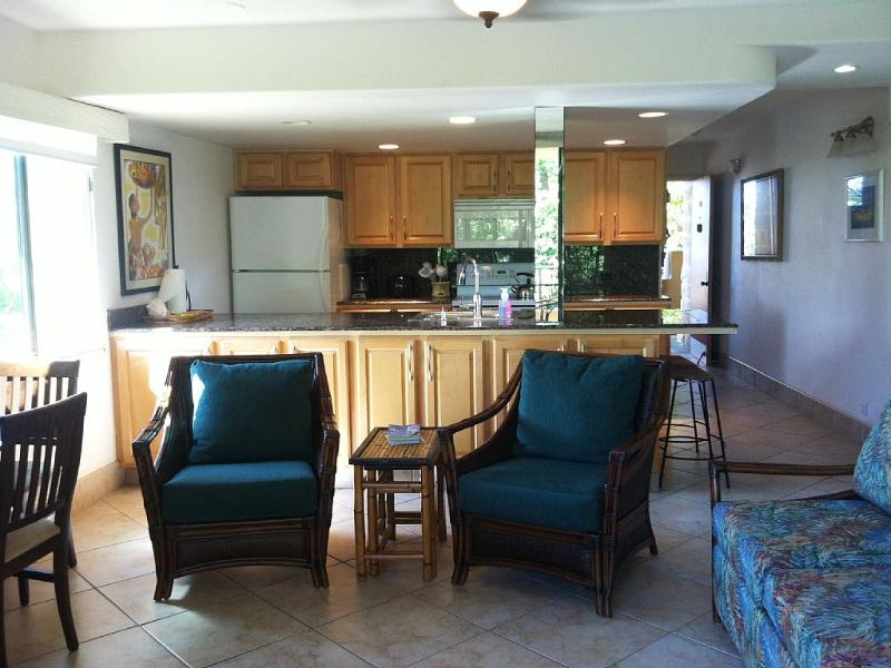 Family room & kitchen (nice open layout) - master bedroom is behind couch on right