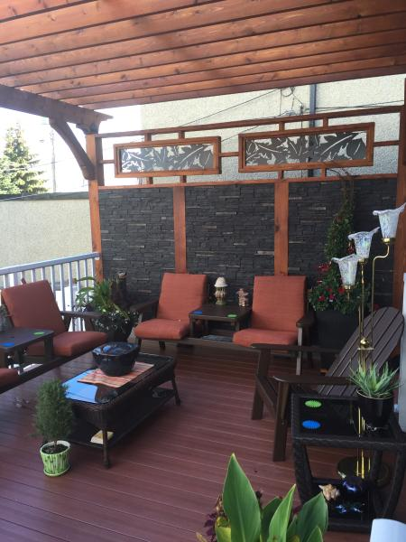 Outdoor deck for summer relaxing.