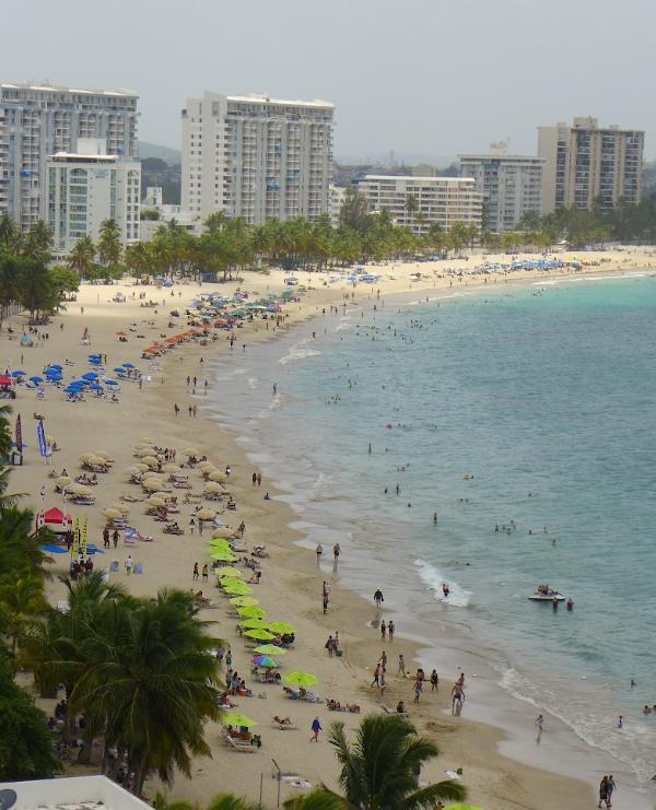 The nearby El San Juan beach, with all sorts of beach rentals available.